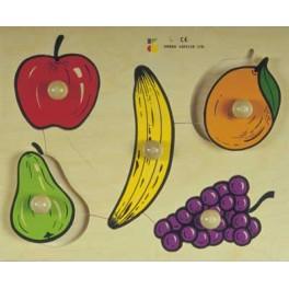 PUZZLE BOIS BOUTONS FRUITS