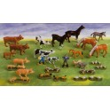 ANIMAUX DE LA FERME Lot de 28 figurines assorties (5-10cm)