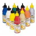 ACRYLCOLOR LOT 10 FLACONS 500ML ASSORTIS SPÉCIAL FETES