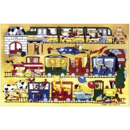 PUZZLE PETIT TRAIN DES LETTRES 47x30cm