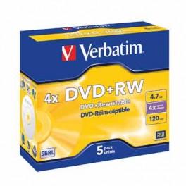 DVD+RW 4x pack de 5