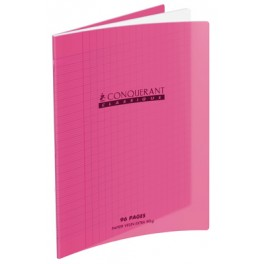 CAHIER POLYPRO ROSE 90G 96 PAGES SÉYÈS 17X22