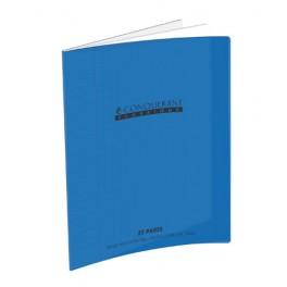 CAHIER POLYPRO BLEU 90G 32 PAGES DOUBLE LIGNE 3mm 17X22