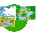 ANIMAUX DU MONDE LOT DE 3 PUZZLES SOFT