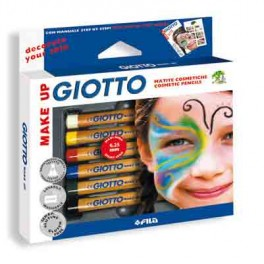 GIOTTO 6 CRAYONS MAQUILLAGE Ø6,25MM ASSORTIS