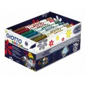 SCHOOLPACK 24 FEUTRES GIOTTO DECOR METAL ASSORTIS
