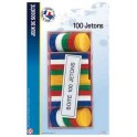 BOITE DE 100 JETONS ASSORTIS