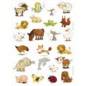 GOMMETTES BABY REPOSITIONNABLES ANIMAUX 93 GOMMETTES