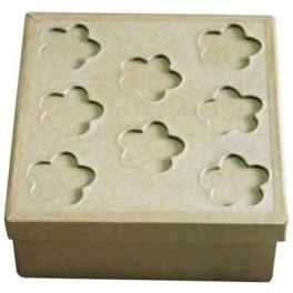 BOITE CARTON A DECORER carré 120x120x52mm