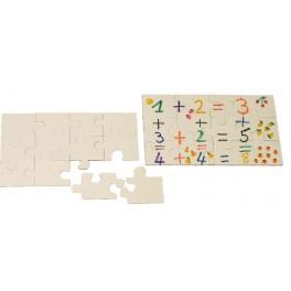 PUZZLE A DECORER rectangle en carton 12 pièces 200x120mm
