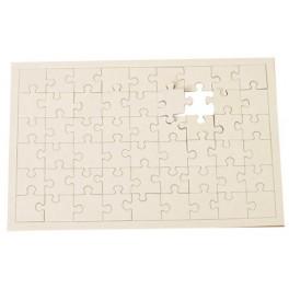 PUZZLE A DECORER rectangle en carton 54 pièces 240x160mm