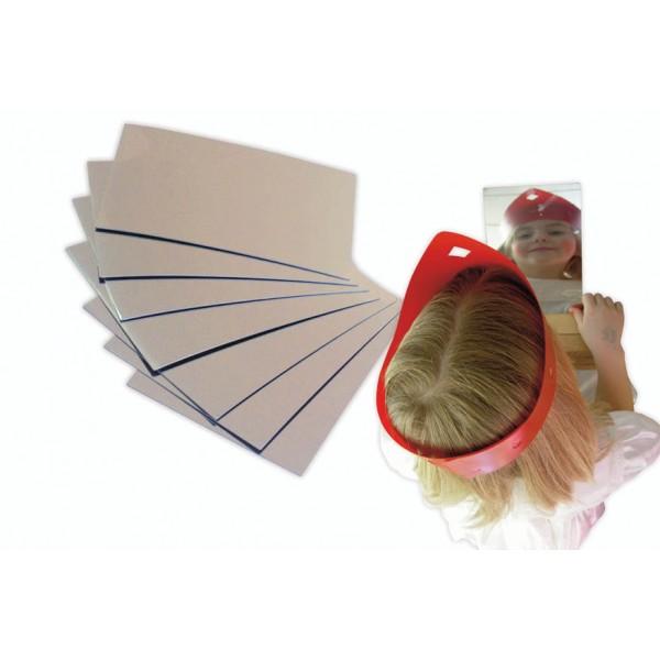 Miroirs incassables d couper 8 plaques 14x20cm for Decouper un miroir