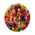 PERLES PLASTIQUE RONDES 550 Perles assorties