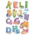 STICKERS EDUCATIFS 2F 69x49cm alphabet -