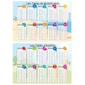 STICKERS EDUCATIFS 2F 34,5x49 additions - multiplications