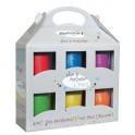 PATABIJOUX couleurs pailletées valise de 6 pots 200g