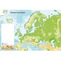 CARTES MURALES Europe physique 120x80 effaçable à sec