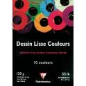 BLOC DESSIN LISSE ASSORTIS 20F 21X29,7CM 120G