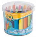 MAXI CRAYONS A LA CIRE CRAYOLA Ø14MM - LG 66MM - POT DE 24 COULEURS ASSORTIES