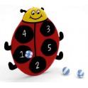 CIBLE VELCRO coccinelle dim 36x28cm + 3 balles velcro