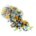 PERLES CYLINDRIQUES OPAQUES ASSORTIES BOCAL 500gr