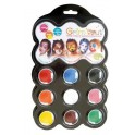 PALETTE MAQUILLAGE CARNAVAL 9 COULEURS