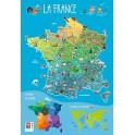 POSTER SOUPLE 52X76CM - LA FRANCE