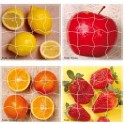 FRUITS LOT 4 PUZZLES MAGNETIQUES