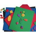 CAOUTCHOUC MOUSSE ADHESIVE 5 plaques A4 assorties