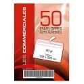 ENVELOPPES 162X229 AUTOC+BDE BLANC PQT 50