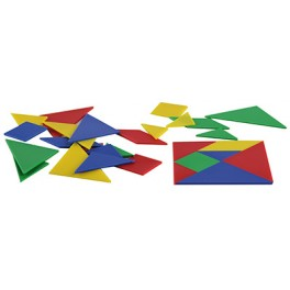 LOT 28 TANGRAMS PLASTIQUE